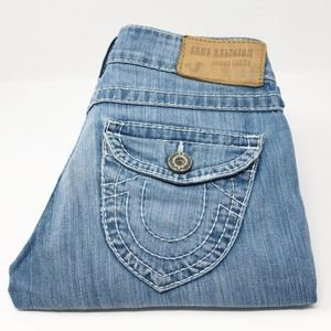 True Religion Joey Natural Big T Jeans Blue